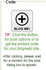 Tombol Blog Me akan membuka kotak penyisipan widget otomatis.