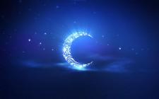 Ramadan-Kareem-blue-ornament-crescent-stars-sky-rays-bandar-rafah.com_