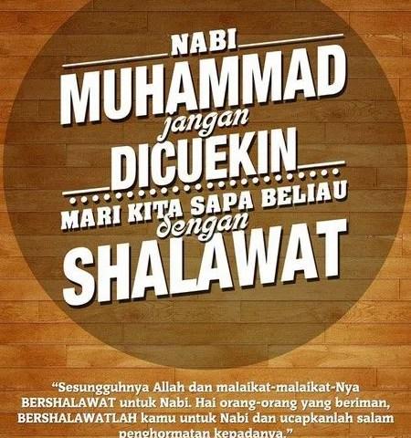 Gambar: Kata Mutiara tentang Shalawat Nabi