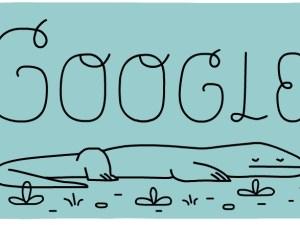 Doodle Google Memperingati 37 Tahun Taman Nasional Komodo