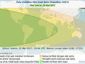 Kapan 1 Ramadhan & 1 Syawal 1438 H (2017)?
