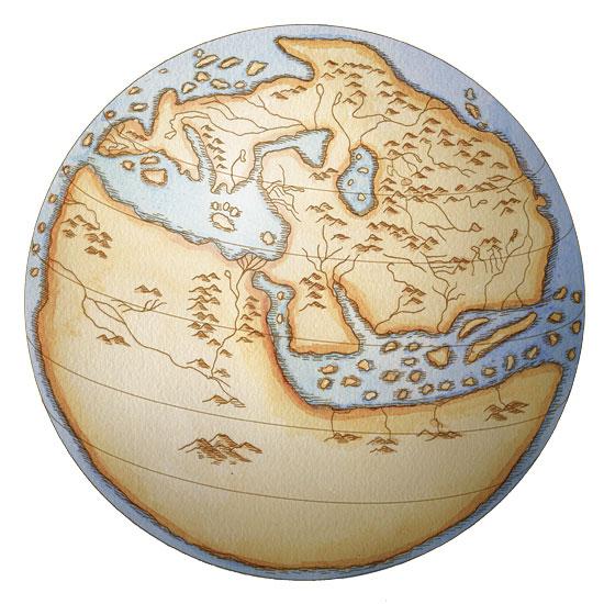 Ilmuwan muslim, ahli geografi, Al Idrisi, menampilkan peta dunia dalam bentuk bola sejak abad ke-12 M.