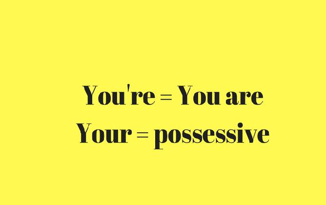 "C'est quoi la difference entre ""you're"" et ""you are"""