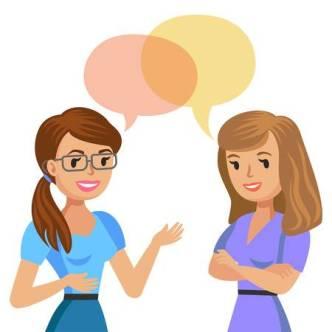 Conversation en anglias entre des filles