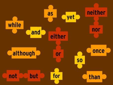 Les conjunctions comme parties du discours