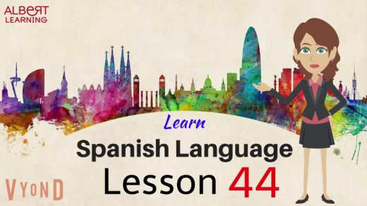 Learn Spanish verbs and nouns by watching this video of two minutes.