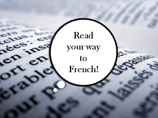 Read your way to French.