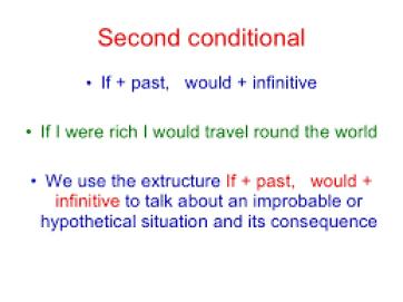 Le second conditionnel en grammaire anglaise.
