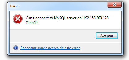 MySQL remote connection error