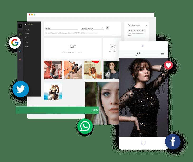 O Prosite é um sistema completo e fácil de usar, integrado a redes sociais e com landing pages