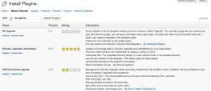 Wordpress wp-agenda instalation