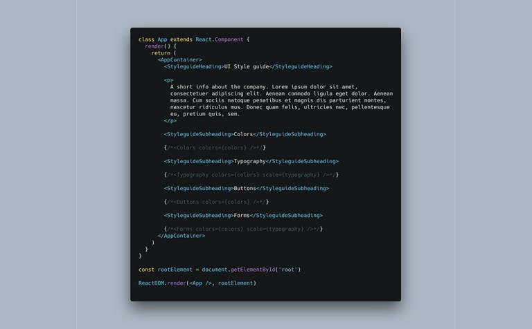 How to Build a Great Style Guide with React & styled-components Pt1