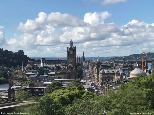 Princes Street from Calton hill