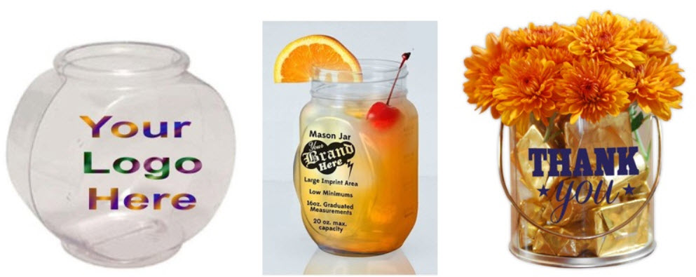 Plastic Fish Bowls w/Logos; 6 Great Uses