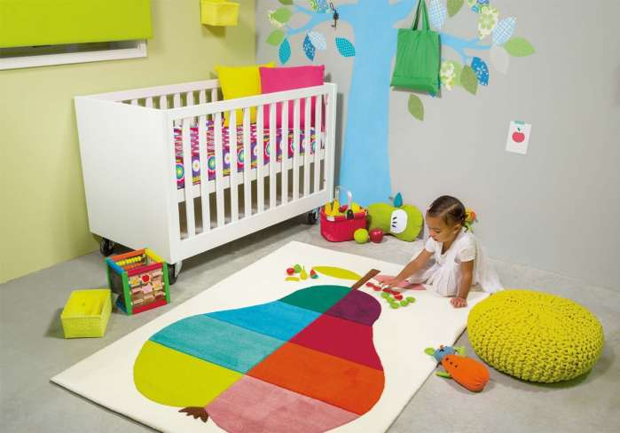 Tapis multicolore rectangulaire pour enfant Kids Pear Arte Espina