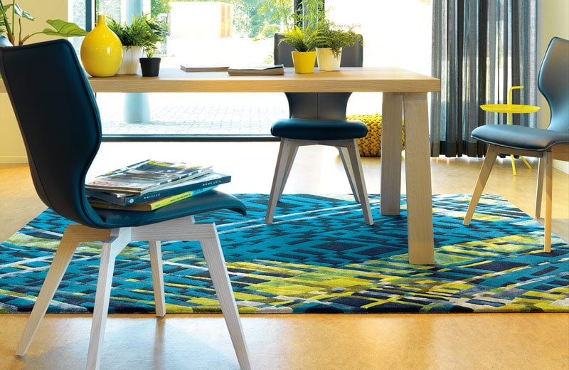 Tapis salle a manger gallery of tapis rond sous de table for Grand tapis salle a manger