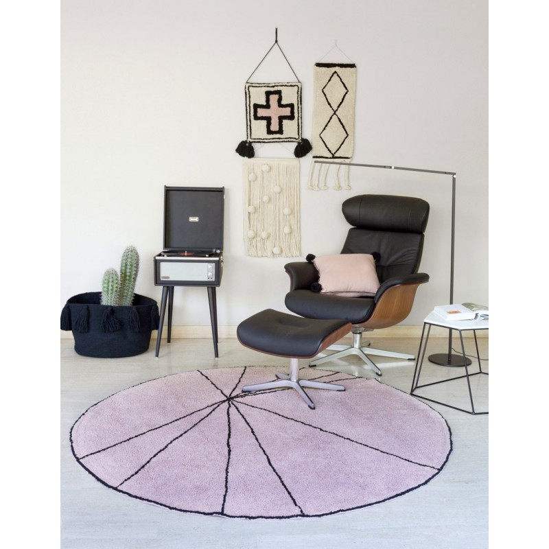 tapis-geometrique-rond-rose-trace-lorena-canals