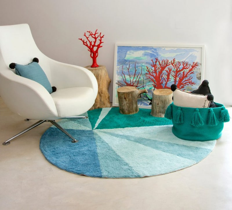tapis-rond-style-scandinave-design-vert-geometric-lorena-canals
