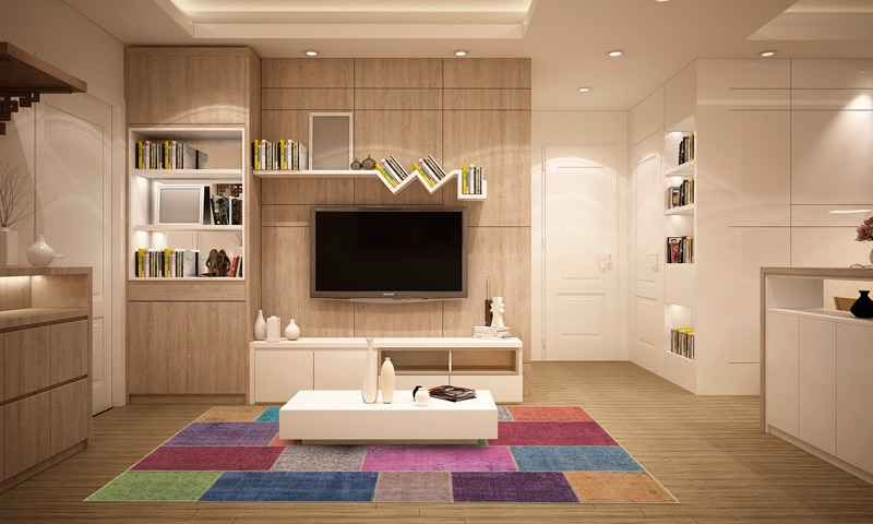 tapis multicolore style patchwork
