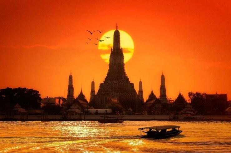 방콕 가볼만한 곳 왓아룬 석양