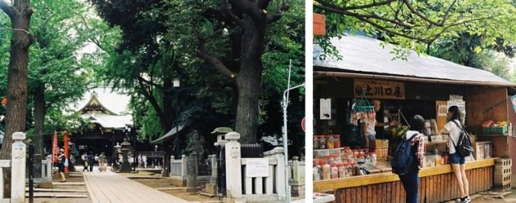 도쿄 여행 코스 키시모진도 신사와 가게