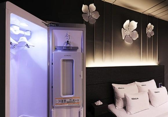 원주 보스코아 호텔 객실 내부 냉장고