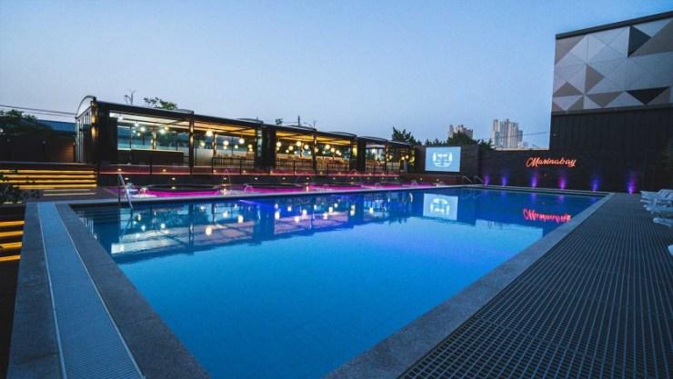 가성비 신축 호텔 속초 마리나베이 수영장 어반아쿠아풀