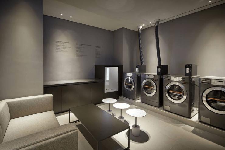 부산 신축 숙소 세탁실
