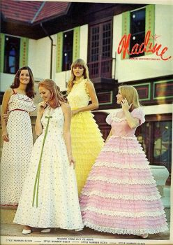prom dresses from the early 70s