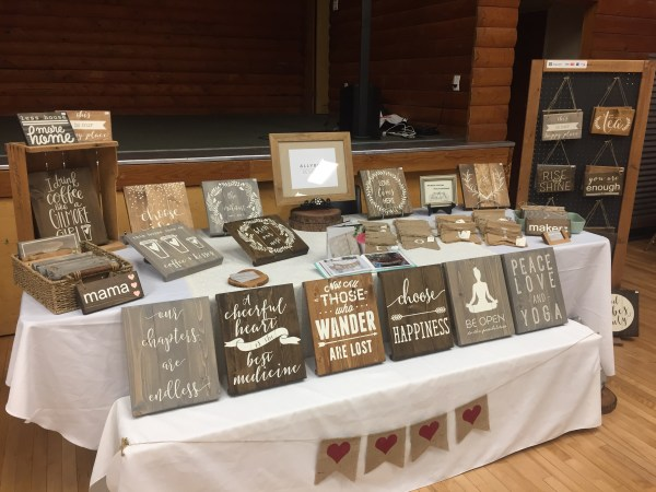 craft show table display ideas