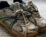 Worn out sneakers
