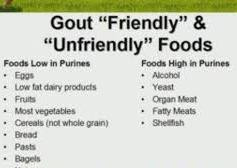Watch your Diet for Gout
