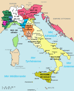 « Map of Italy (1494)-fr » par Map_of_Italy_(1494)-it.svg: F l a n k e rderivative work: Fab5669 (talk) — Map_of_Italy_(1494)-it.svg. Sous licence GFDL via Wikimedia Commons - http://commons.wikimedia.org/wiki/File:Map_of_Italy_(1494)-fr.svg#mediaviewer/File:Map_of_Italy_(1494)-fr.svg