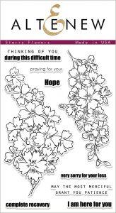 floral stamp set for sympathy cards