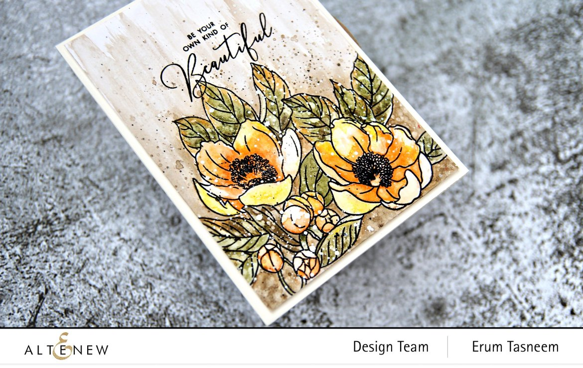 Altenew Woodless Watercolor Pencils and Peoria Japonica Stamp Set | Erum Tasneem | @pr0digy0