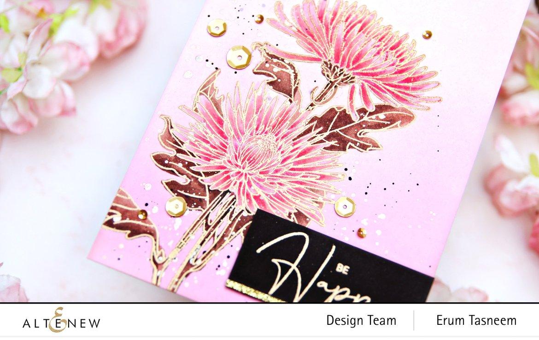Altenew Paint-a-Flower: Spider Mums Stamp Set   Erum Tasneem   @pr0digy0