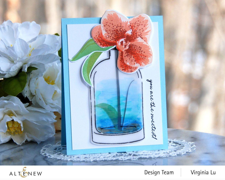 01052021-Versatile Vases 2 Stamp & Die Bundle-Spotted Orchid Stamp Stencil & Die Bundle