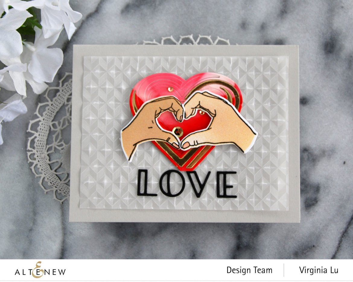 01242021-A Little Bit of Love-Angled Mosaic Embossing Folder-Illusion Heart Die-002