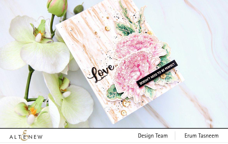 Altenew BAF Semi-Double Chrysanthemum Stamp Set | Erum Tasneem | @pr0digy0