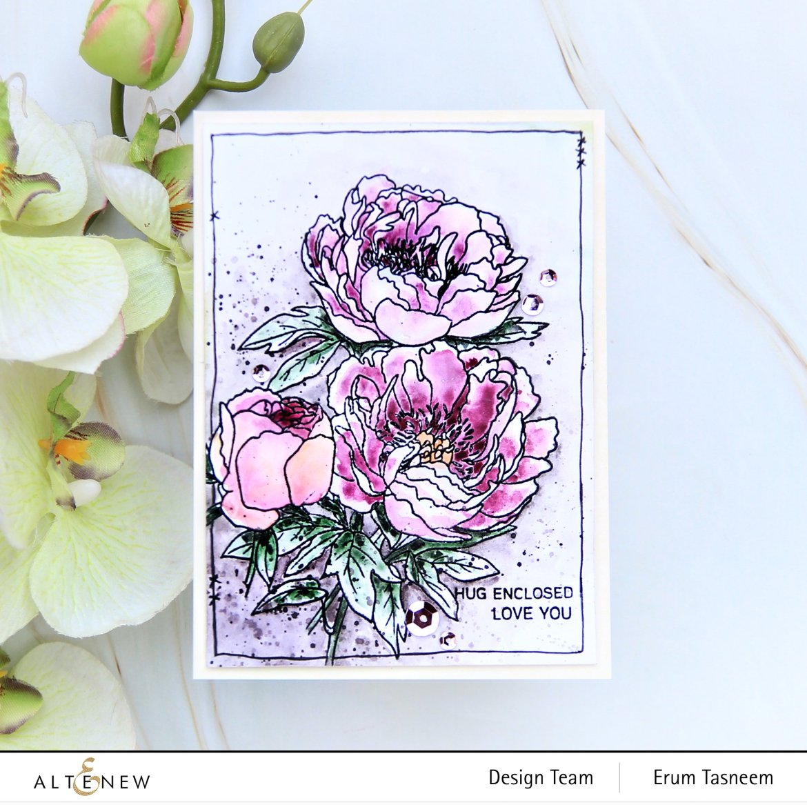 Altenew PAF Coral Sunset Stamp Set | Erum Tasneem | @pr0digy0