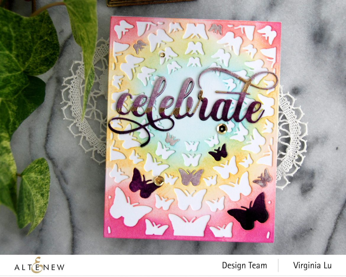 Altenew-Radial Butterflies Cover Die-Fancy Celebrate Die-003