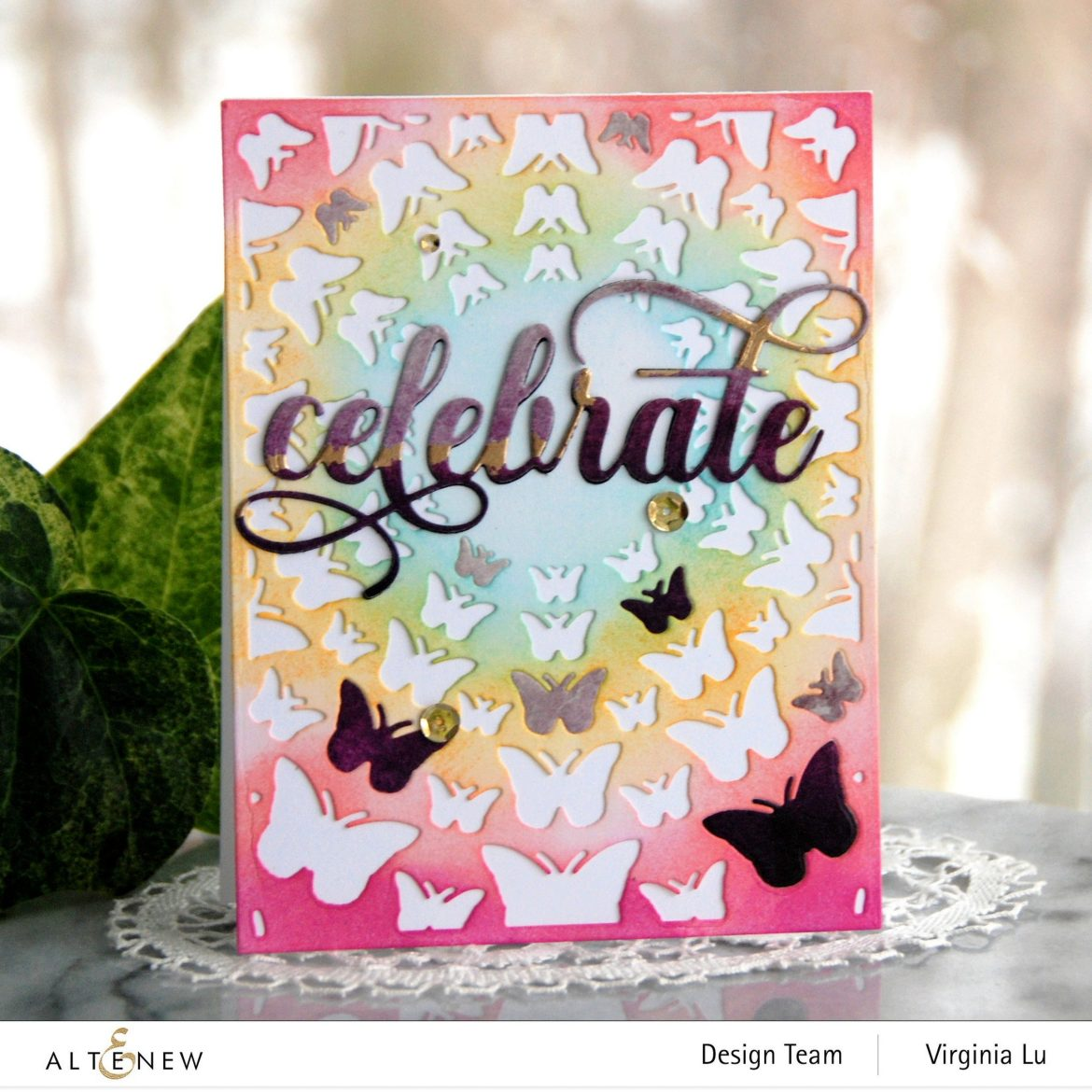 Altenew-Radial Butterflies Cover Die-Fancy Celebrate Die