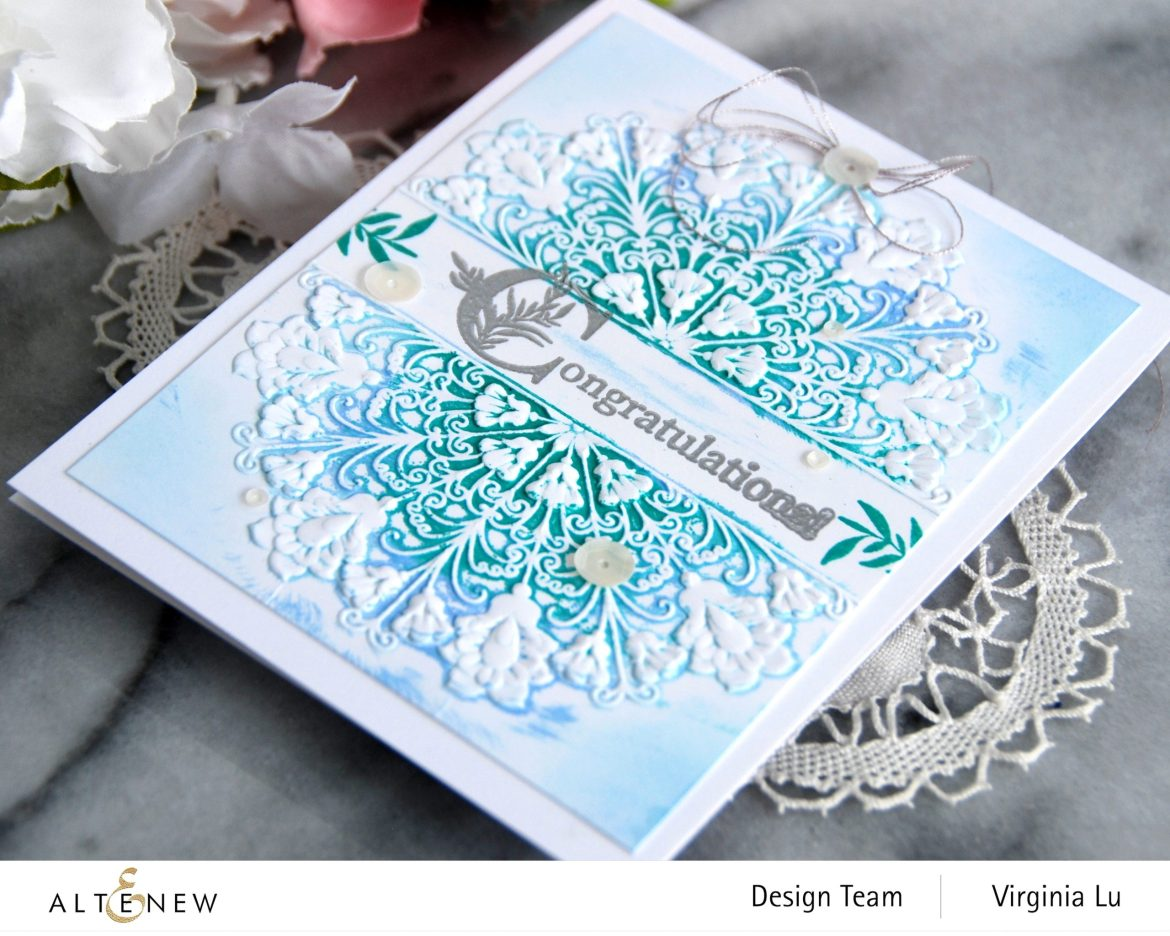 Altenew-Storybook Stamp-Ornamental Feature 3D Embossing Folder-002