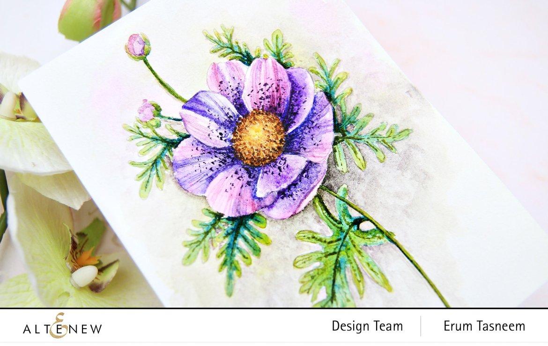 Altenew Coloring Book Stamp Set | Erum Tasneem | @pr0digy0