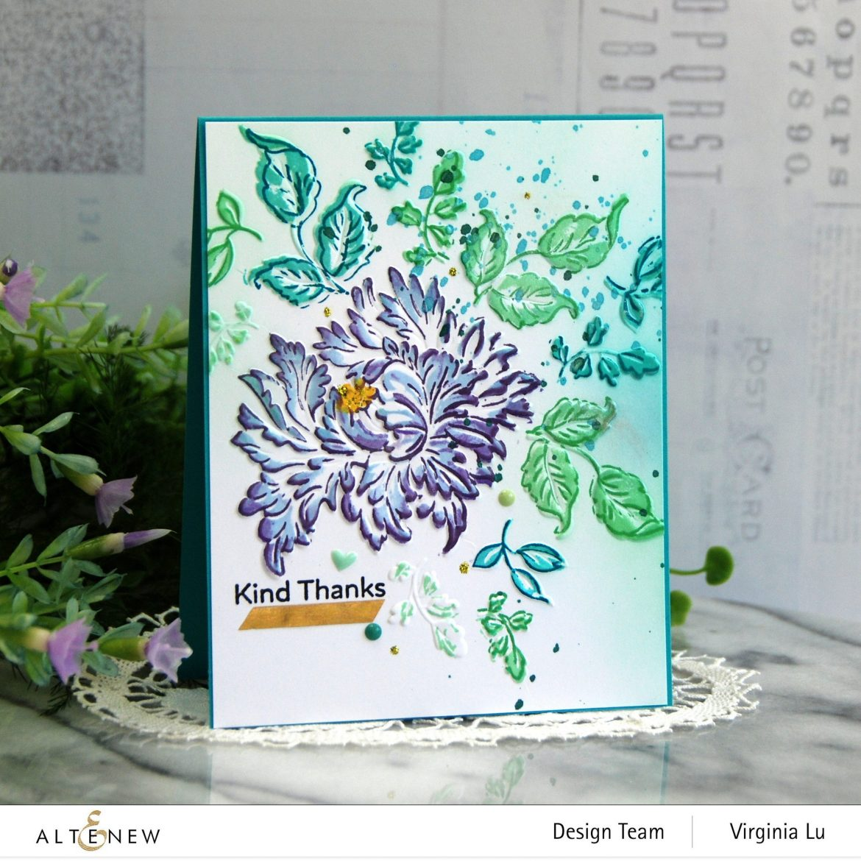 05252021-Majestic Bouquet Stamp & Die Bundle-Majestic Bloom 3D Embossing Folder