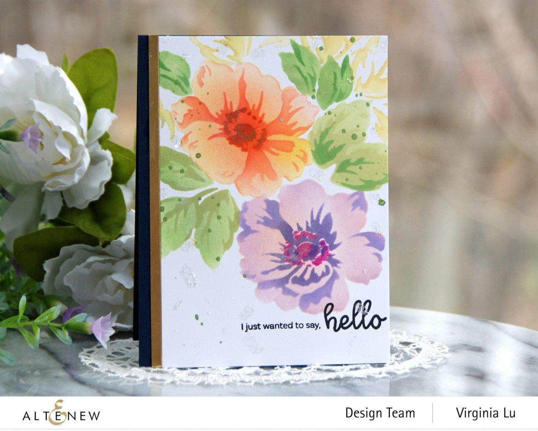 Altenew-Greenwood Flowers Stencil Set-Bouquet of Love Stamp Set-001