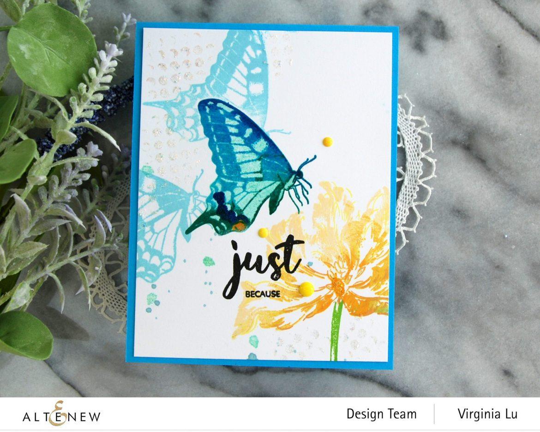 06032021-Dovetail Butterflies Stamp & Die Bundle -Blooming Tulips Stamp Set-Feeling Dotty Stencil-003