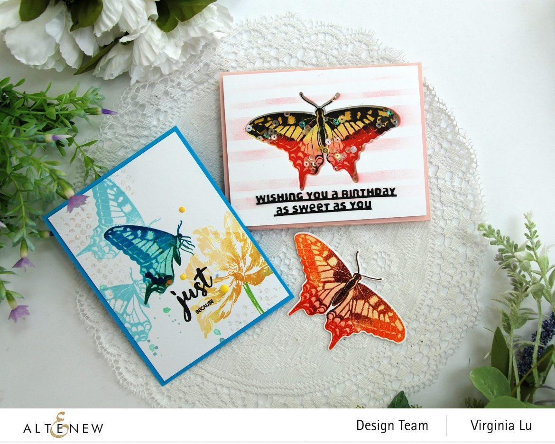 06032021-Dovetail Butterflies Stamp & Die Bundle -Blooming Tulips Stamp Set-Feeling Dotty Stencil-Slim Sentiment Die-002