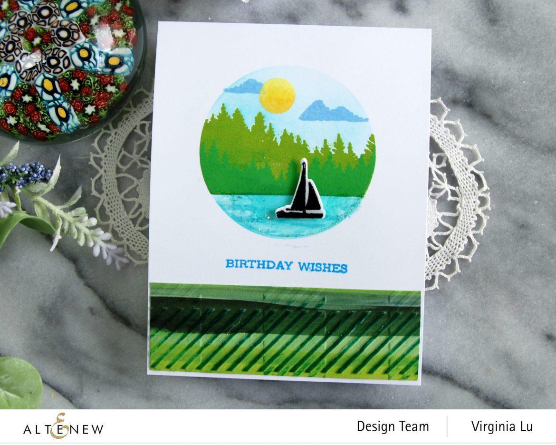 06132021-Let's Go Stamp & Die & Coloring Stencil Bundle-Buffalo Plaid 3D Embossing Folder-Enjoy The Ride Paper Pad-003