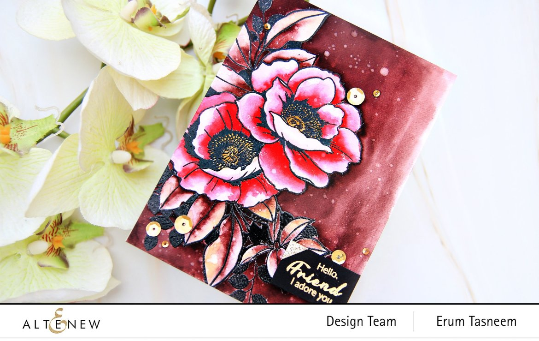 Altenew Wallpaper Art Stamp Set   Erum Tasneem   @pr0digy0